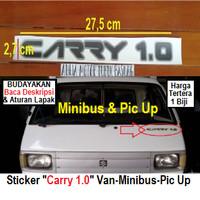 sticker stiker merk tulisan list depan suzuki carry 1.0 1000cc 1000 cc
