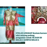 baju penganten adat minangkabau untuk anak anak