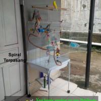 """SPIRAL BURUNG PARROT """"M"""" 150 Cm parkit lovebird hingga macaw parrot"""