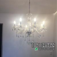 Jual Lampu Kristal Lilin 6 - Free Bohlam LED Murah