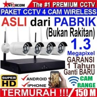 PAKET CCTV WIRELESS 4 IP CAMERA 1,3 Megapixel IP KAMERA SUPER HD