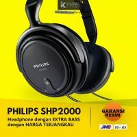 PHILIPS SHP2000 Black Headphones - Original Bass Headphone & Headset
