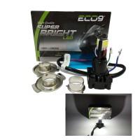 Lampu LED 3 Sisi Luminos AC DC Headlamp LED 3 Sisi Titik Motor Eco9