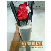 Jual buket bunga merah/ hadiah wisuda/ bunga wisuda/ anniversary/ flower Murah