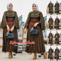 baju wanita kaftan merak donita batik muslim modern unik cantik