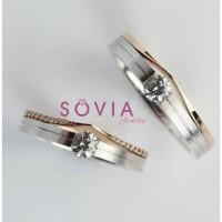 cincin kawin emas putih custom elegan jakarta