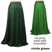 rok jersey bolak balik - circle green