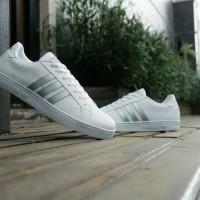 sepatu sneakers casual adidas baseline putih silver cewek woman wanita