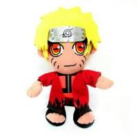 Boneka Anime Naruto Shippuden (Hokage Merah) - Kartun Kado Uzumaki Jg