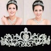 Bridal Pengantin Tiara Pesta Mahkota Headband Bride Rambut - Titanium thumbnail
