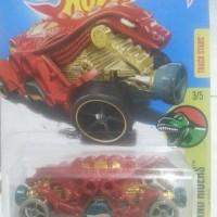 hot wheels double demon merah dino riders