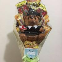 Jual Bouquet snack Yellow+ boneka wisuda teddy bear brown Murah
