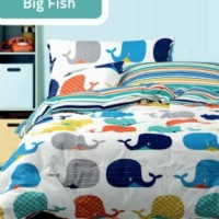 SPREI NOVA LINEN 2017 SINGLE SIZE (120x200cm) BIG FISH