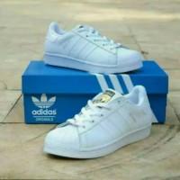 Sepatu Adidas Superstar Putih Polos full White Grade Ori Sneakers