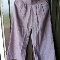 New Celana Katun Kulot Warna Mauve
