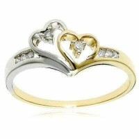 cincin mix emas putih dan emas kuning diameter 6
