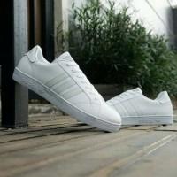 sepatu sneakers casual adidas baseline full putih cewek woman wanita