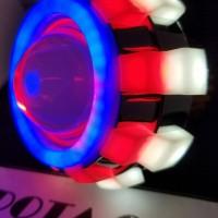 Lampu motor Led Projie Jamur Triple AE + DE bukan HID Projektor