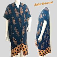 Jual KAFTAN BATIK Wayang Hitam. Batik Wanita Modern Dress. Tunik KF008 Murah