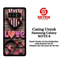 Casing Samsung Galaxy Note 8 Love Gift Custom Hard Case