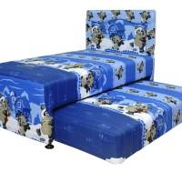 Kasur Finiland Spring Bed Anak 2in1 Season Blue Panda 100x200cm