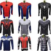 Jual kaos spiderman, black panther,captain america,ant man, quick silver Murah