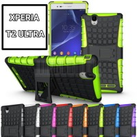 Xperia T2 ULTRA armor Hard+Soft Case Cover bumper rugged xphase stand