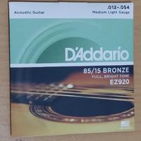 Jual Senar Gitar Akustik D'Addario ukuran 012 EZ920 daddario acoustic Murah
