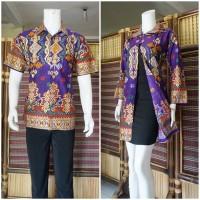 baju couple batik termurah ungu BSB147 Pak Dadan