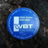 1m Timah WBT Audio Grade Solder 4% Silver Original 0.8mm dia