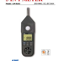 harga Lutron Lm-8102a Anemo, Humidity, Light, Thermo, Sound Level Meter Tokopedia.com