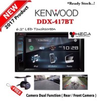 harga Paket Audio Mobil Kenwood Ddx-417bt Double Din Tape Head Unit + Kamera Tokopedia.com