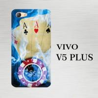 Casing Hardcase HP Vivo V5 Plus Blue Fire Ace Cards X4725