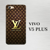Casing Hardcase HP Vivo V5 Plus Louis Vuitton Gold X4869