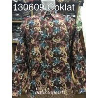 130609 Kemeja Batik Hem Batik Baju Batik Pria Motif Dayak Kalimantan