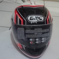 HELM  BMC  BLADE 200  WHITE RED  FULL FACE