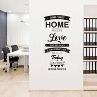 Jual Cutting Sticker Our FIrst Home Stiker Kaca Dinding Rumah 60x120 Murah