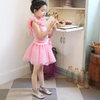 Pinky Snow set 2pcs (Shirt+Skirrt)