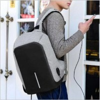 Jual Tas Ransel USB port charger Smart Backpack Anti Air Anti Maling-thief Murah