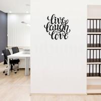 Stiker Live Laugh Love Dinding Kaca Kamar Tembok Rumah Kantor Sticker