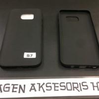 Slim Black Matte Samsung S7 Flat G930F 5.5 inchi SoftCase Anti Glare