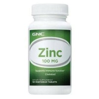 GNC Zinc 100MG - 100 Vegetarian Tablets