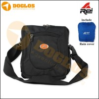 Tas Travel Pouch REI Trigerra + Rain cover selempang sling bag outdoor