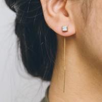 Anting-anting lapis emas 1 titik (titip online)