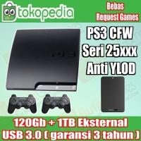SONY Playstation 3 Slim 120GB + Harrdisk External 1TB