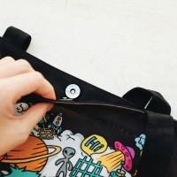 Jual Tas Serbaguna / Cute Star Outer Space Canvas Tote Bag Murah