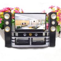 Jual 1 Pcs Mini Hi-Fi 1:6 TV Home Theater Cabinet Set Combo For Barbie Doll Murah