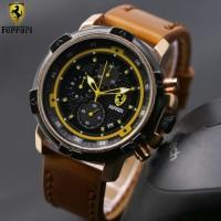 Jam Tangan Pria Ferrari Crono Tali Kulit ( Expedition,Lamborghini,RM )