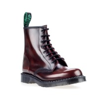 Solovair Sepatu Boot BURGUNDY RUB-OFF 8 EYE DERBY BOOT