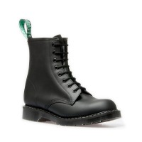 Solovair Sepatu Boot BLACK 8 EYE DERBY BOOT